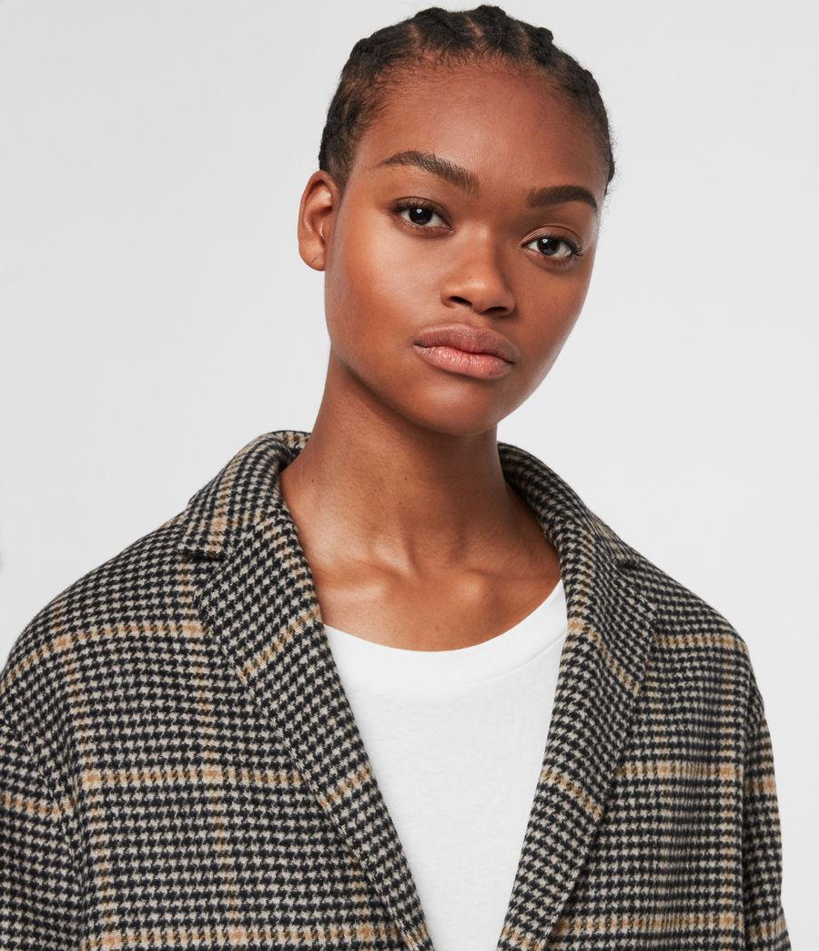Women's Anya Aurora Coat (black_camel) - Image 4
