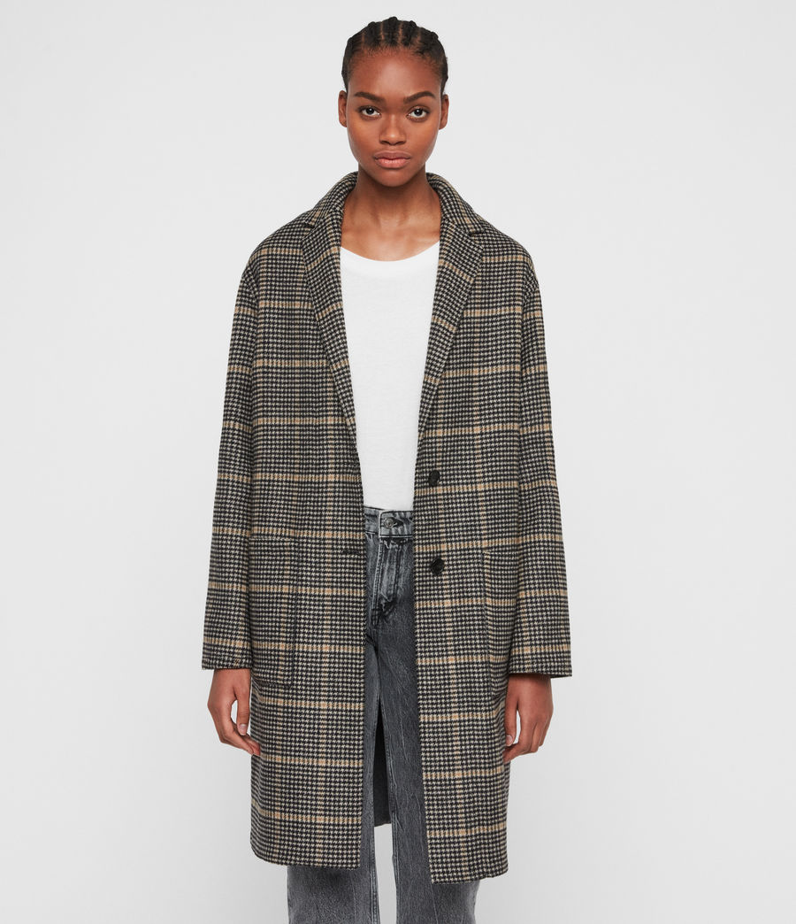 Women's Anya Aurora Coat (black_camel) - Image 5