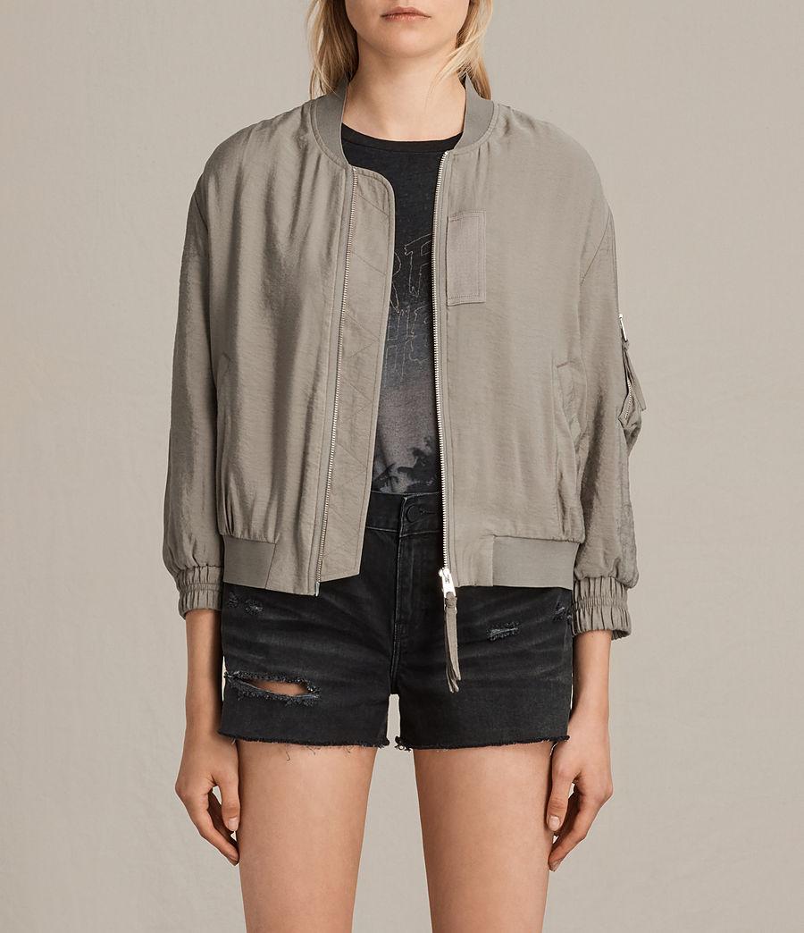 Women's Angie Light Bomber Jacket (washed_khaki) - Image 1