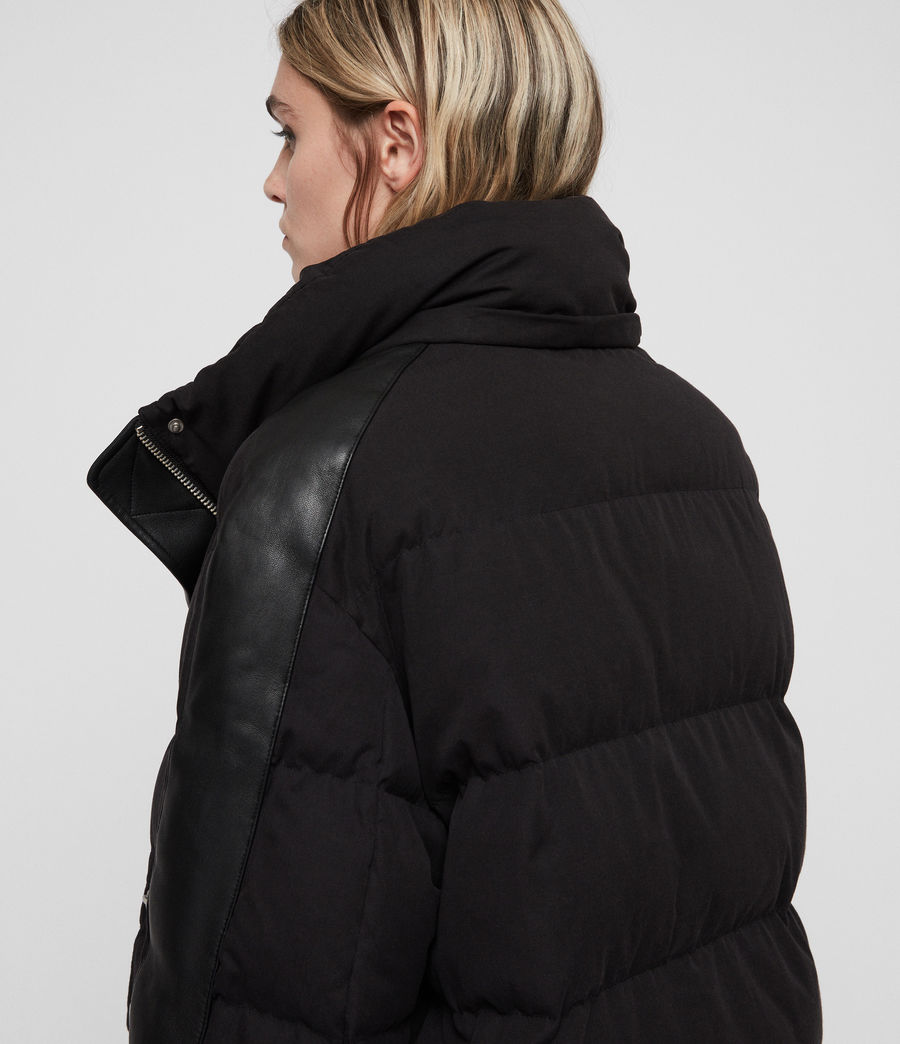 Women's Kyle Puffer Coat (black) - Image 2