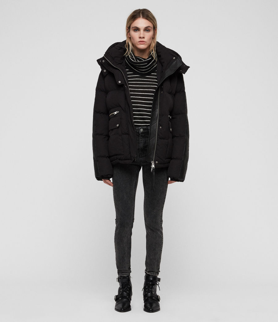 Women's Kyle Puffer Coat (black) - Image 3