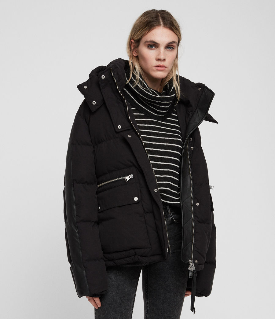 Women's Kyle Puffer Coat (black) - Image 4