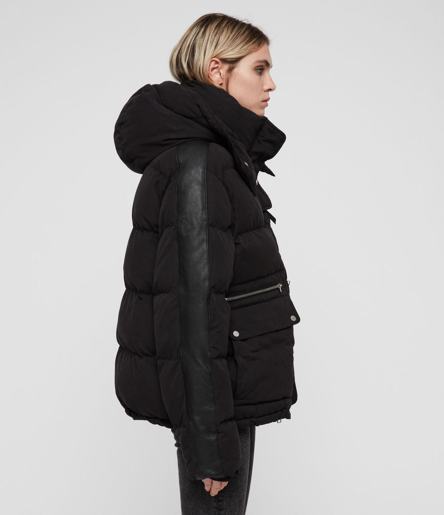 Women's Kyle Puffer Coat (black) - Image 5
