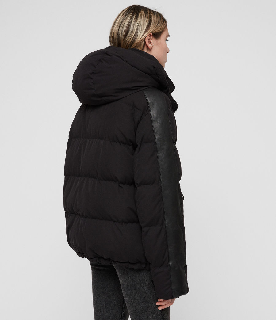 Women's Kyle Puffer Coat (black) - Image 6