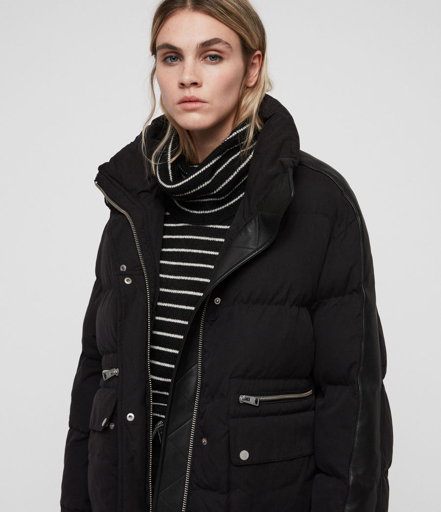 Women's Kyle Puffer Coat (black) - Image 7