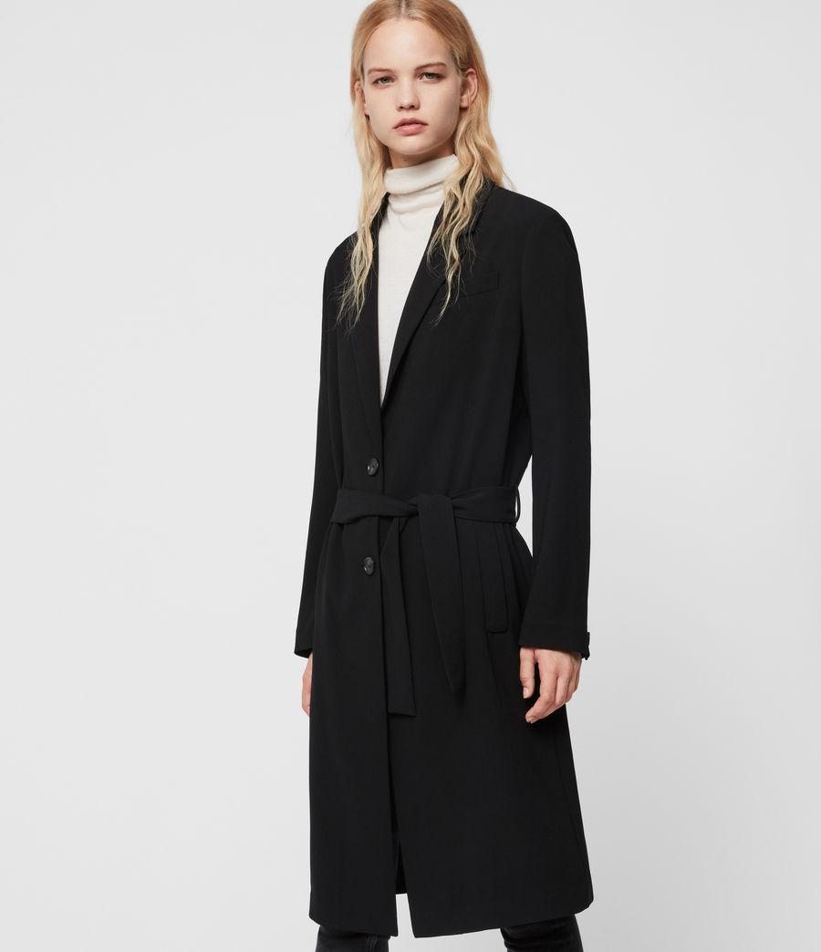 Donne Cappotto Neva - Monopetto con cintura (black) - Image 2