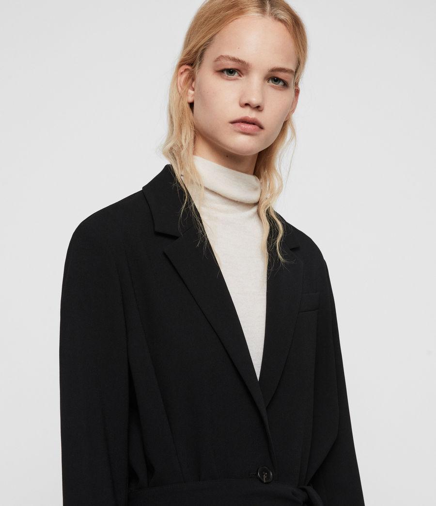Donne Cappotto Neva - Monopetto con cintura (black) - Image 3