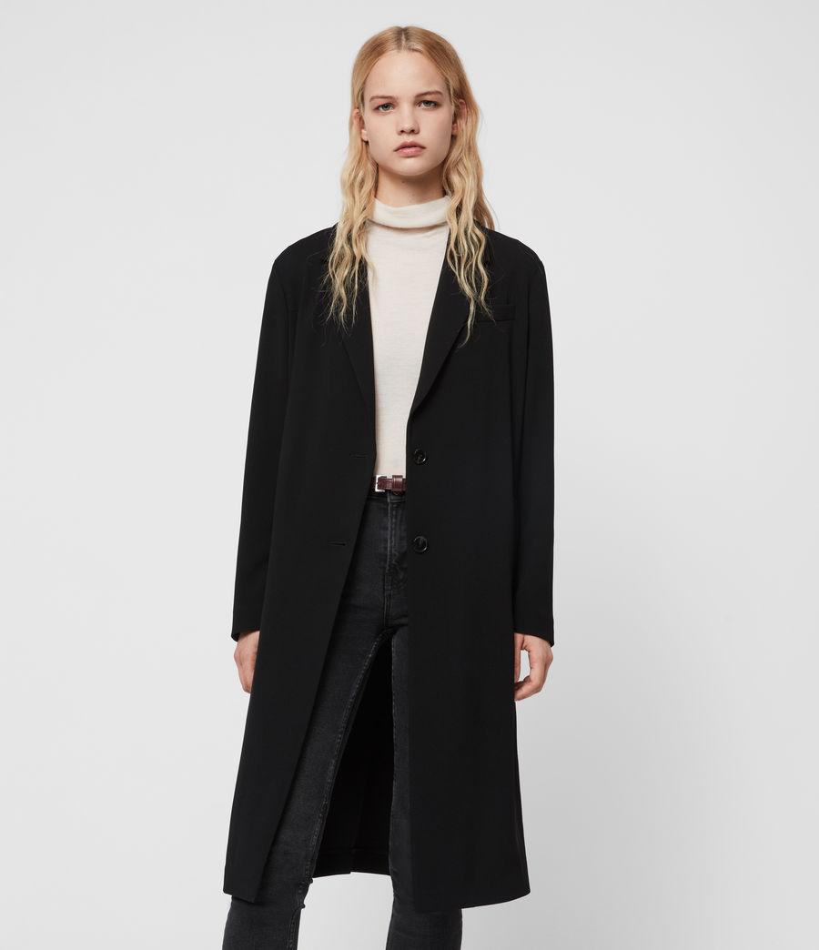 Donne Cappotto Neva - Monopetto con cintura (black) - Image 4