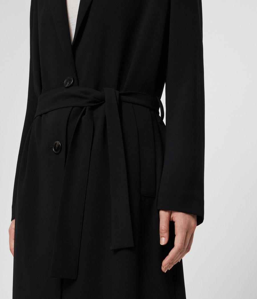 Donne Cappotto Neva - Monopetto con cintura (black) - Image 5