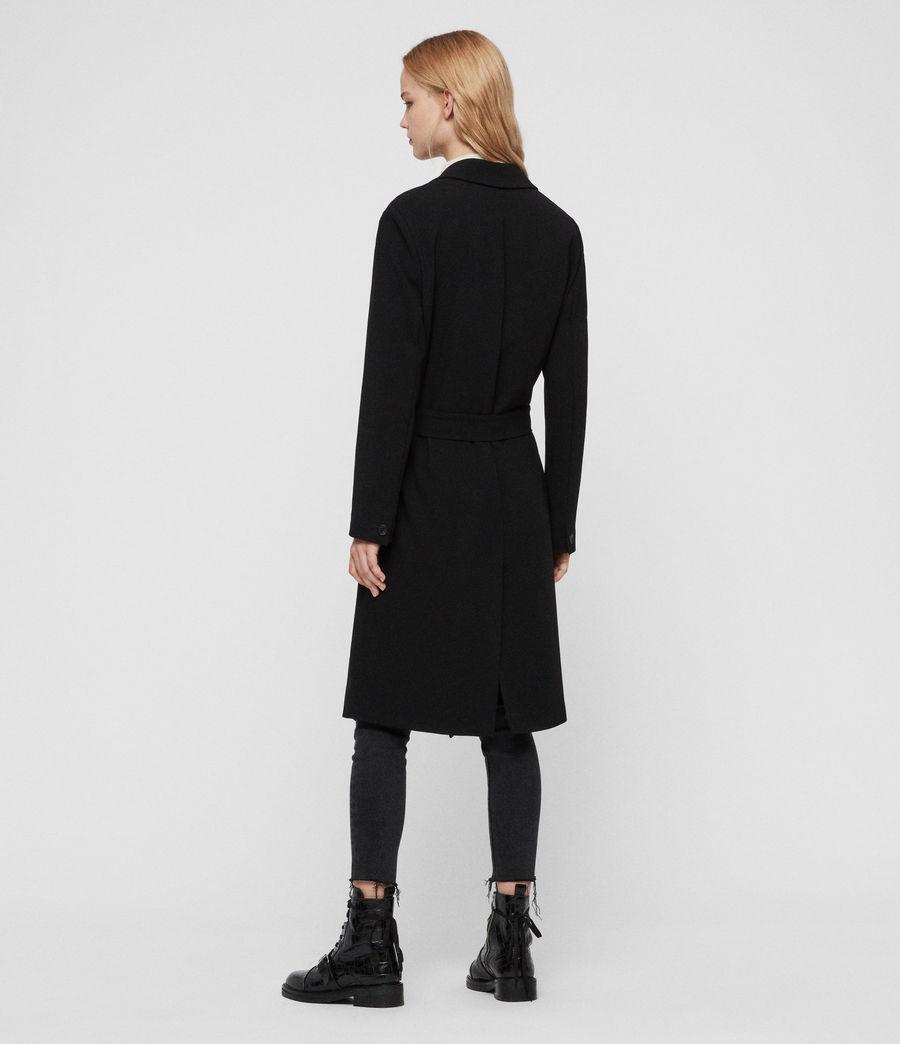 Donne Cappotto Neva - Monopetto con cintura (black) - Image 6