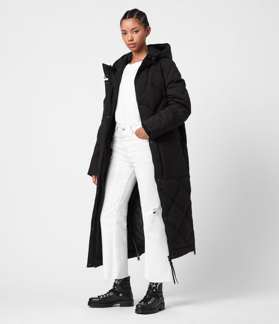 Womens Lucie Puffer Coat (black) - Image 1