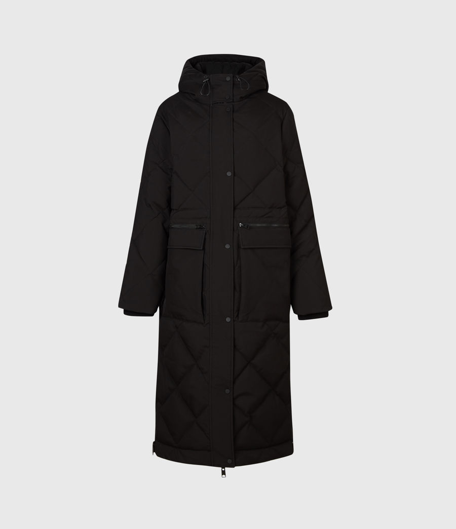 Womens Lucie Puffer Coat (black) - Image 2