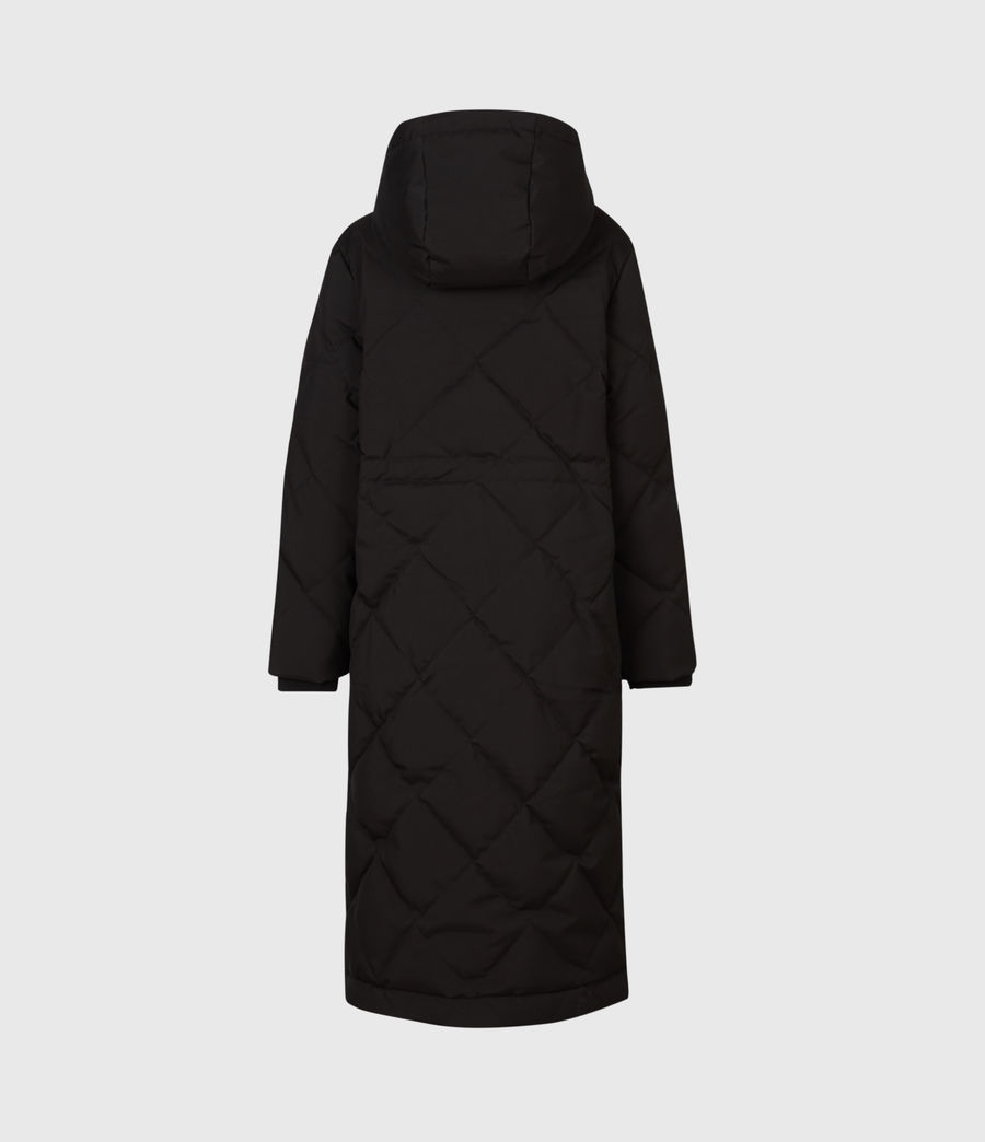 Womens Lucie Puffer Coat (black) - Image 3
