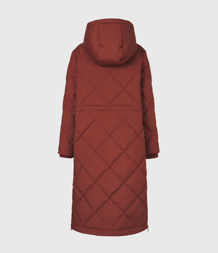 Womens Lucie Puffer Coat (cinnamon_brown) - Image 3
