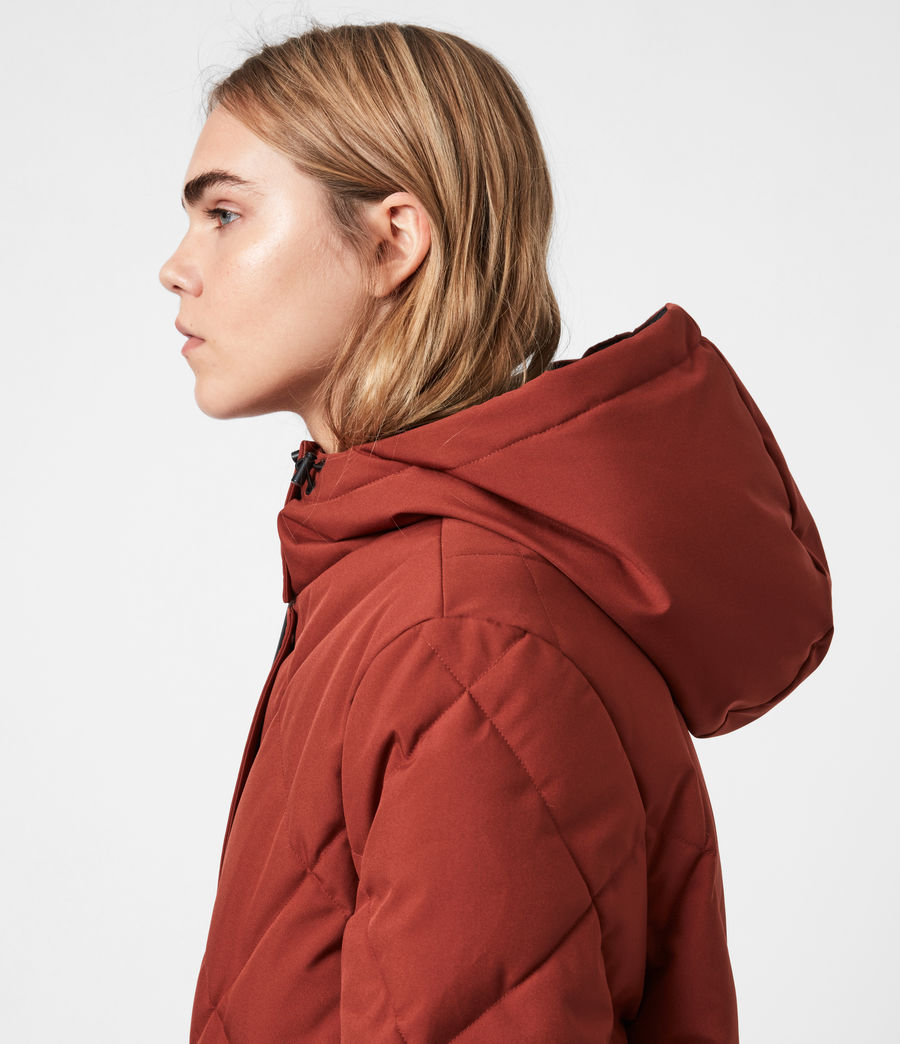 Womens Lucie Puffer Coat (cinnamon_brown) - Image 4