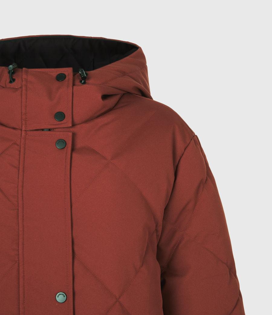 Womens Lucie Puffer Coat (cinnamon_brown) - Image 5