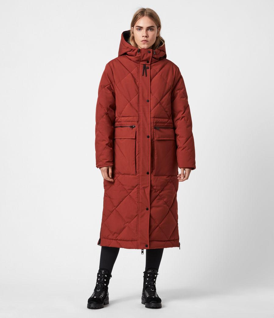Womens Lucie Puffer Coat (cinnamon_brown) - Image 7
