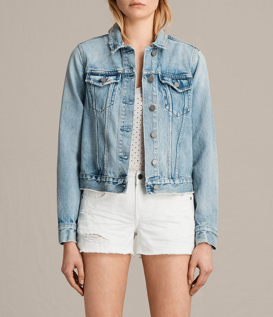 Women's Hay Denim Jacket (mid_indigo_blue) - Image 1
