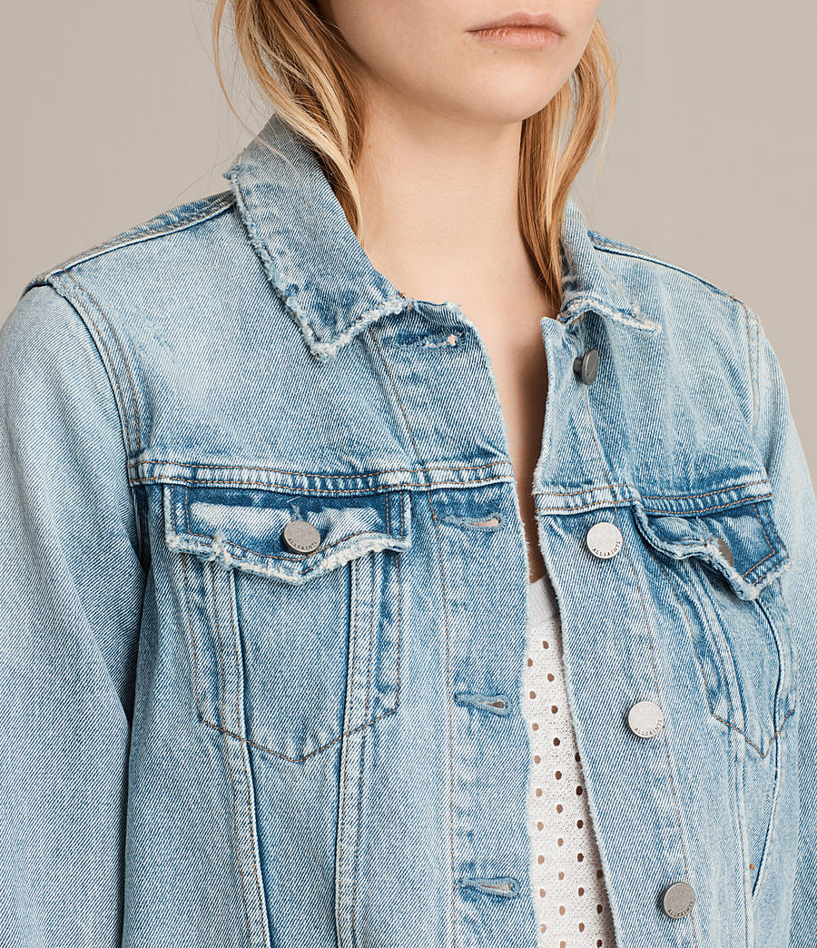 Women's Hay Denim Jacket (mid_indigo_blue) - Image 2
