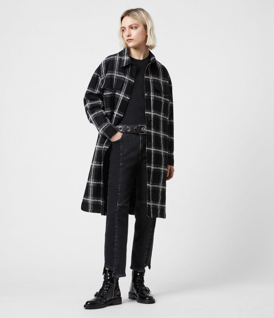 Damen Nia Mono Mantel (black_grey) - Image 1