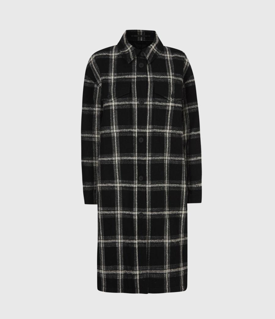 Womens Nia Wool Blend Mono Coat (black_grey) - Image 2