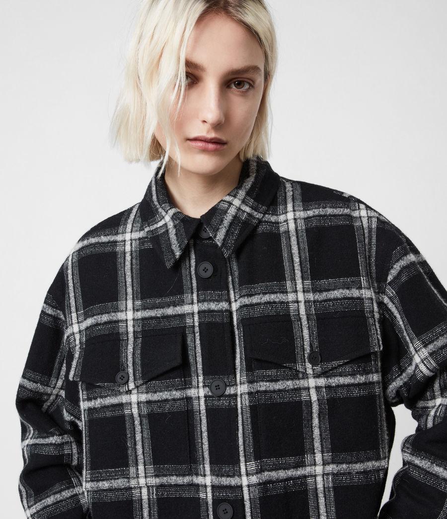 Damen Nia Mono Mantel (black_grey) - Image 4