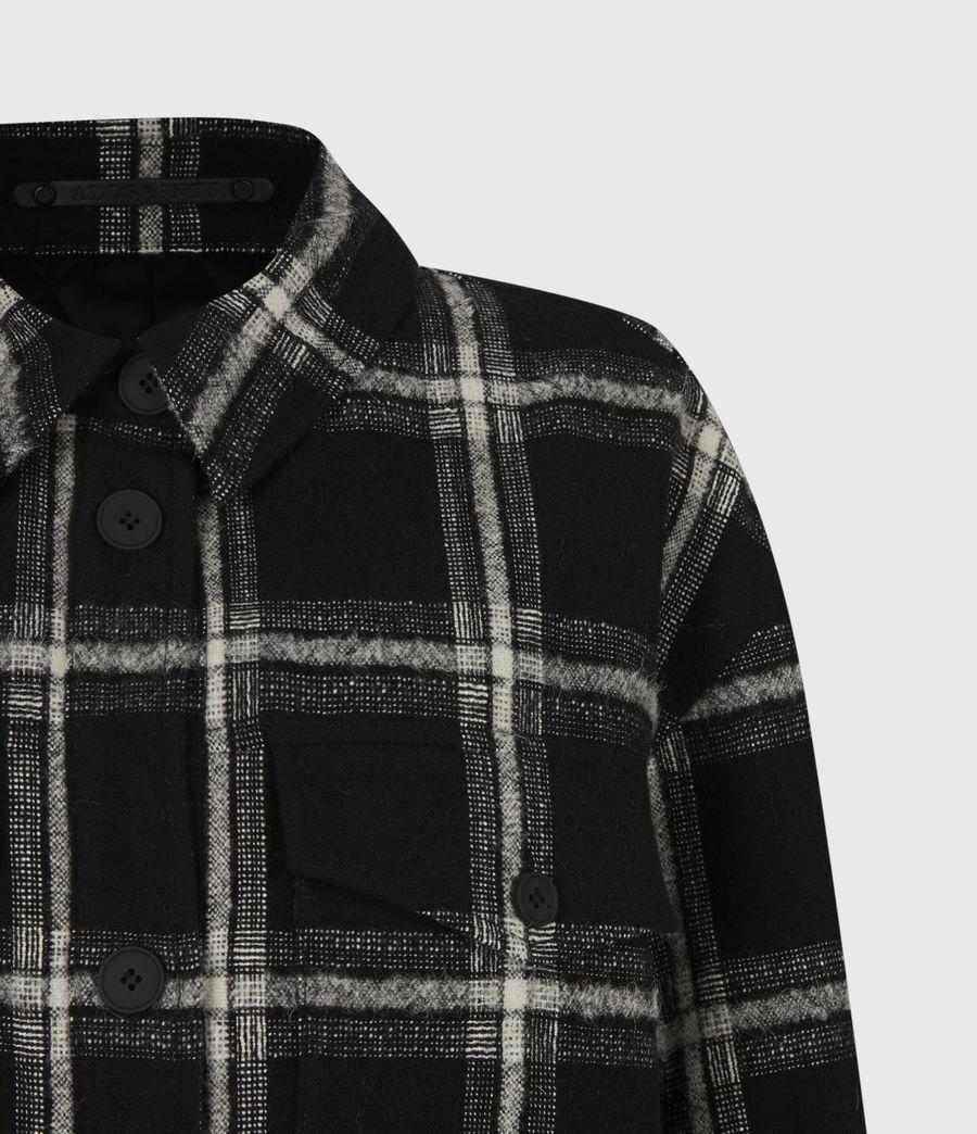 Womens Nia Wool Blend Mono Coat (black_grey) - Image 5