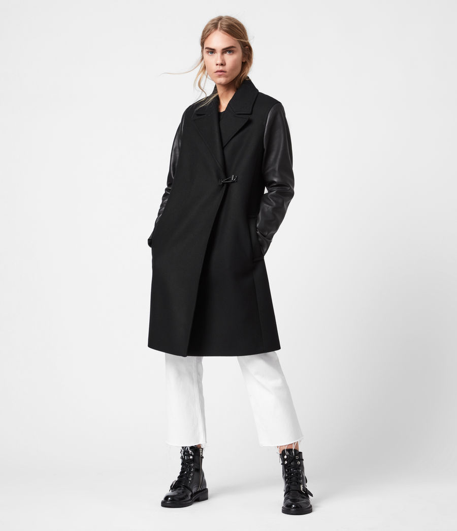 Women's Rosalind Lea Cashmere Blend Coat (black) - Image 1