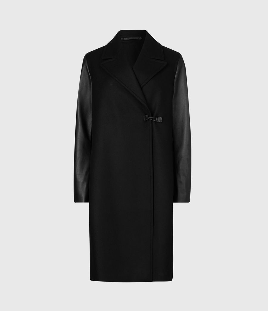 Women's Rosalind Lea Cashmere Blend Coat (black) - Image 2
