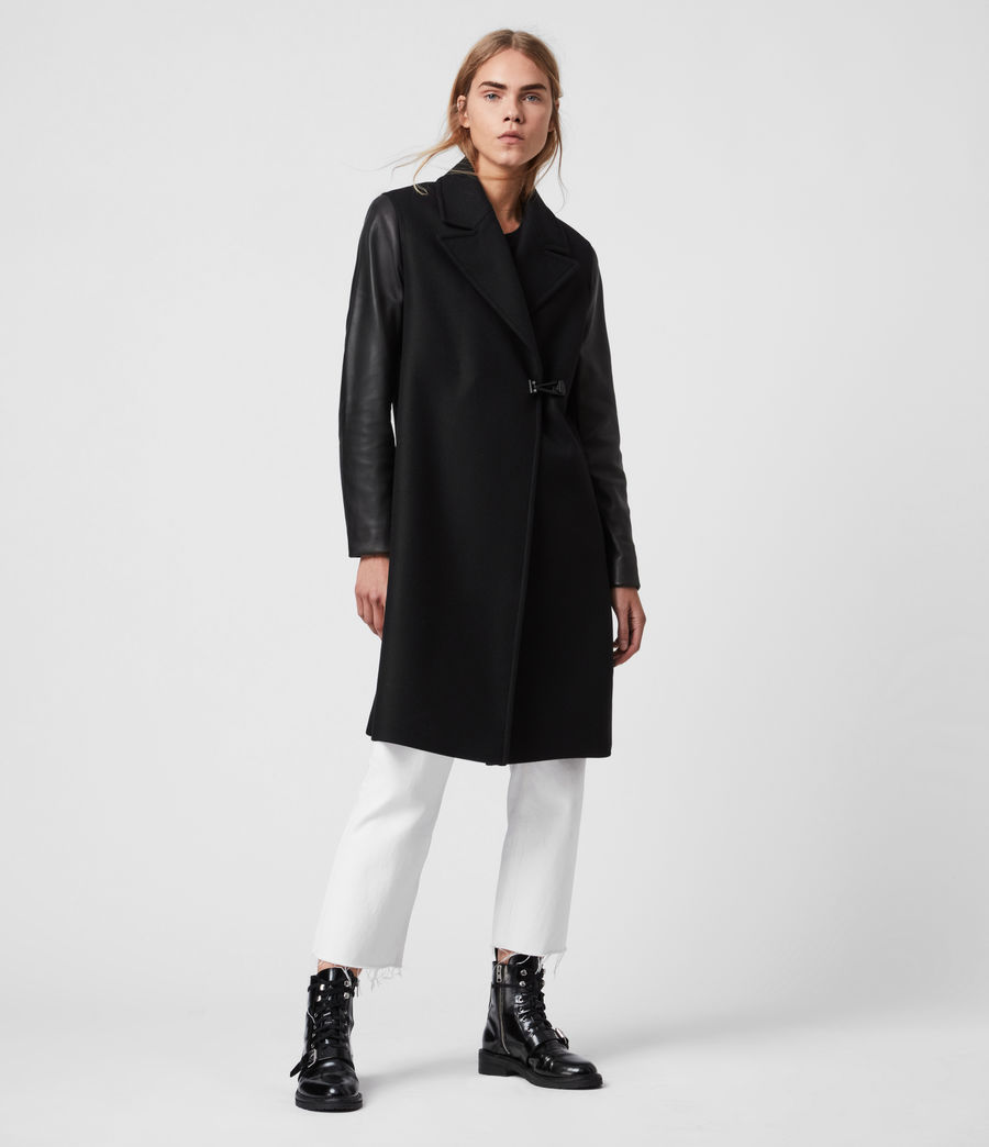 Women's Rosalind Lea Cashmere Blend Coat (black) - Image 4