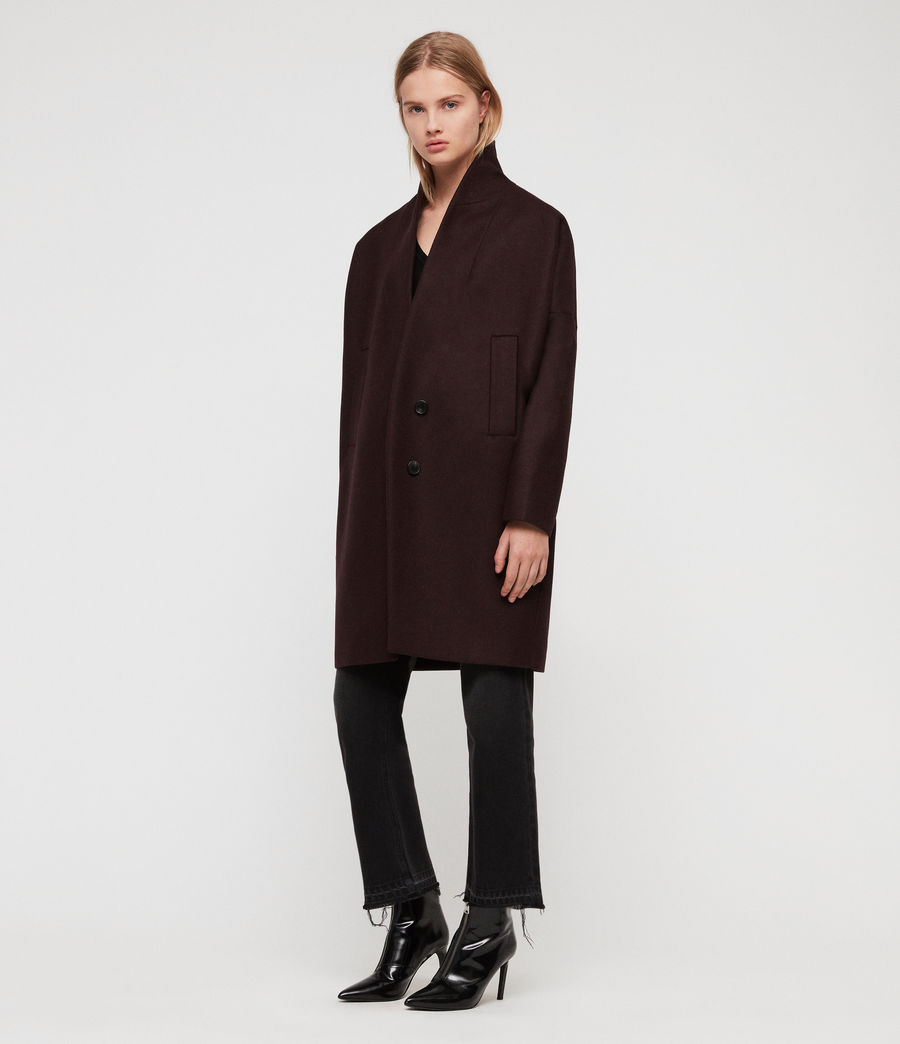 Donne Cappotto Layton (oxblood_red) - Image 1