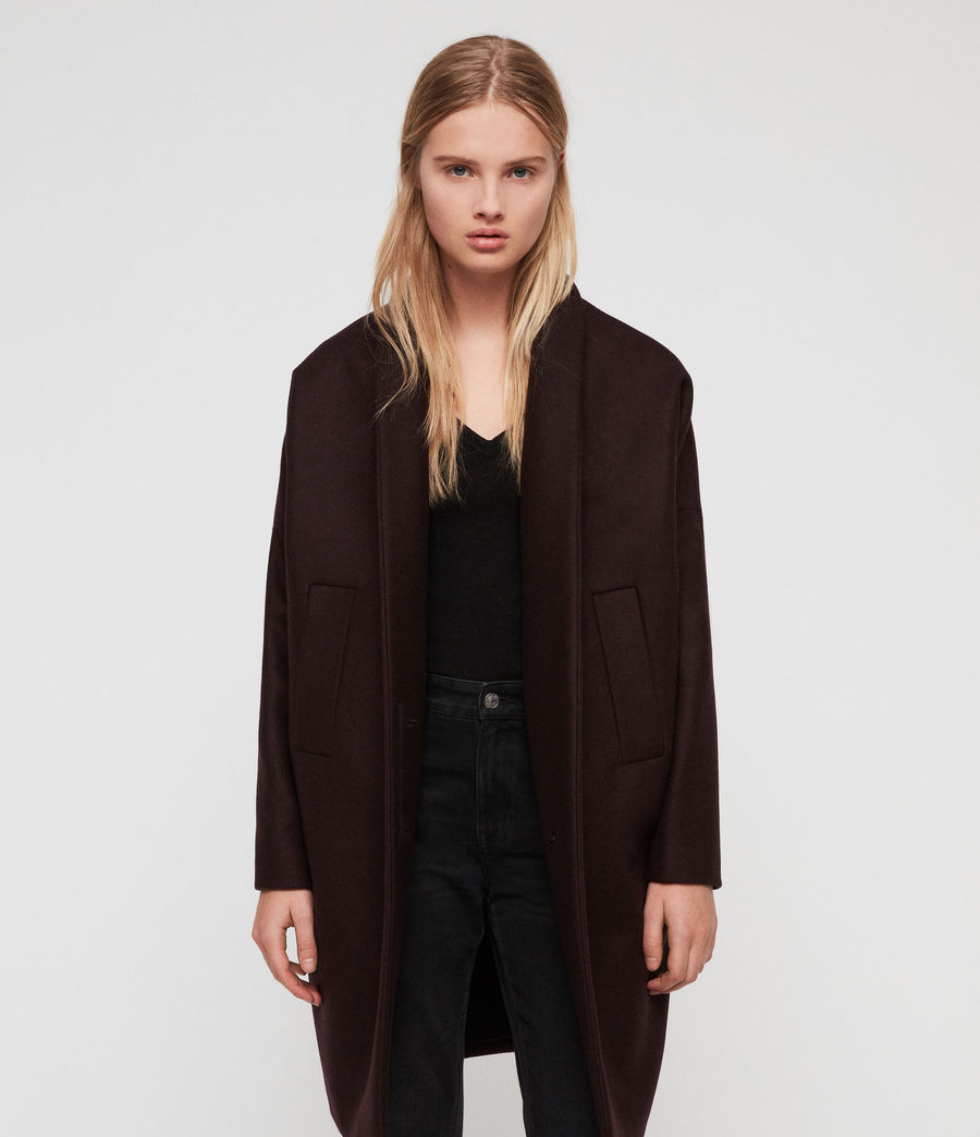 Donne Cappotto Layton (oxblood_red) - Image 2