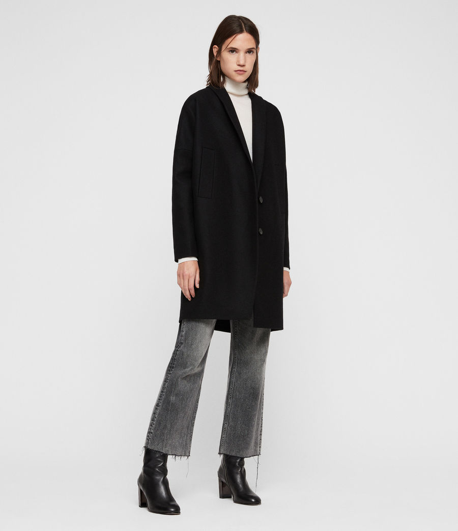 Womens Layton Coat (black) - Image 1