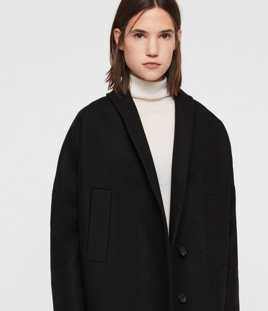 Womens Layton Coat (black) - Image 2