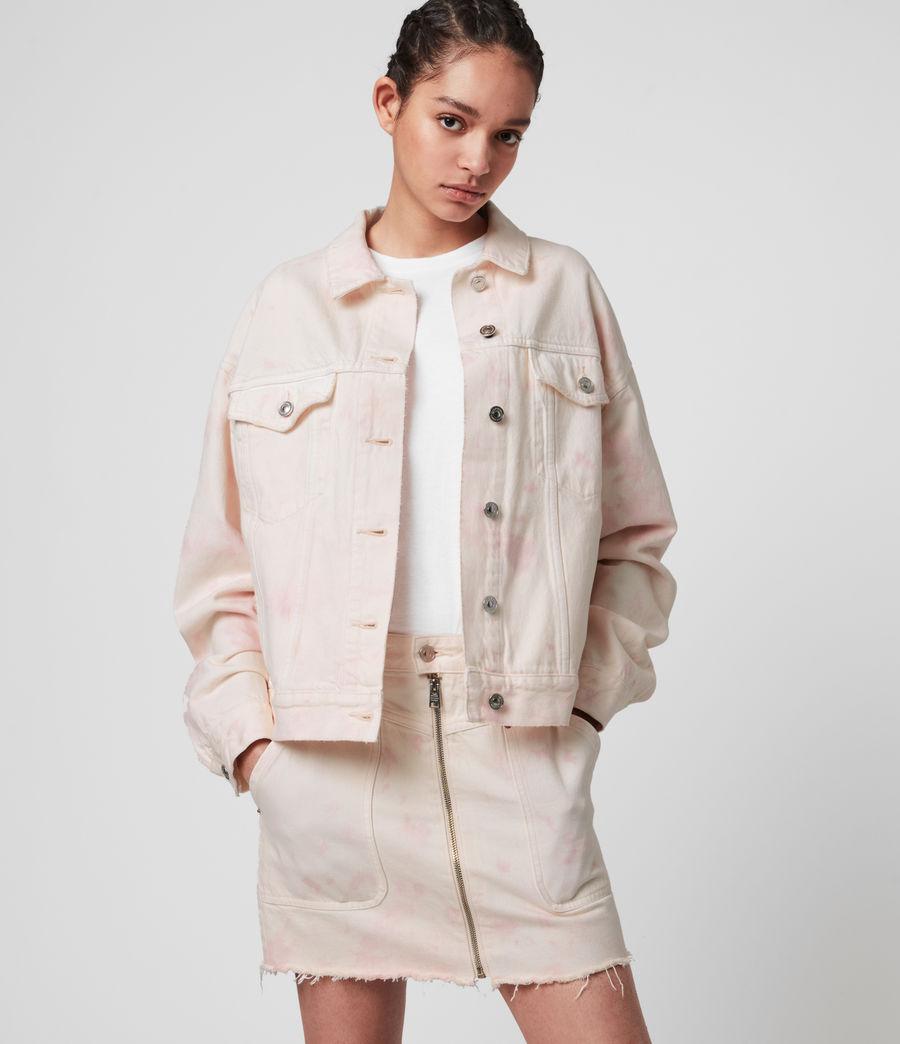 Women's Elma Dye Denim Jacket (chalk_white_pink) - Image 1