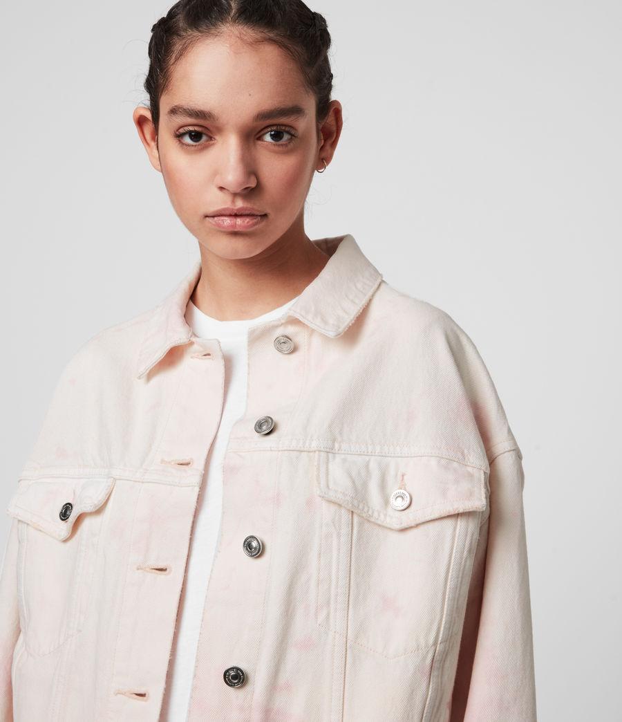 Women's Elma Dye Denim Jacket (chalk_white_pink) - Image 2