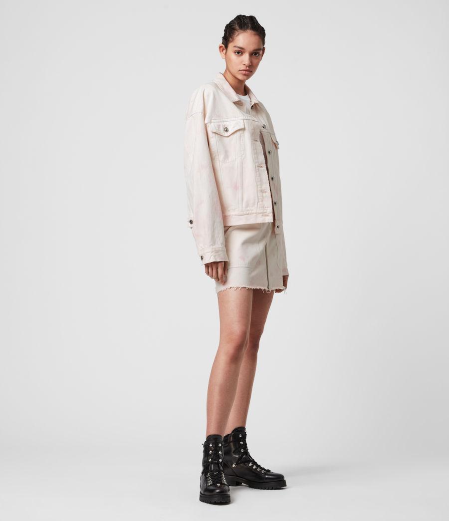 Women's Elma Dye Denim Jacket (chalk_white_pink) - Image 3