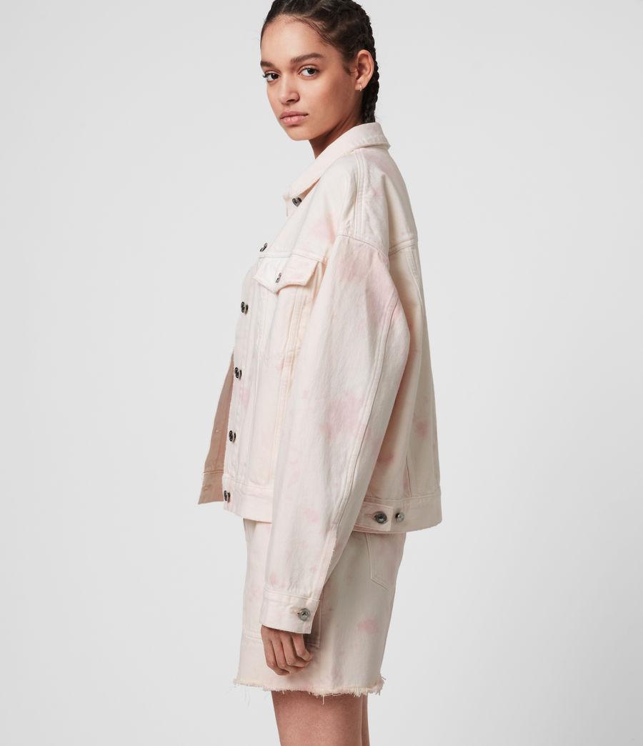 Women's Elma Dye Denim Jacket (chalk_white_pink) - Image 4