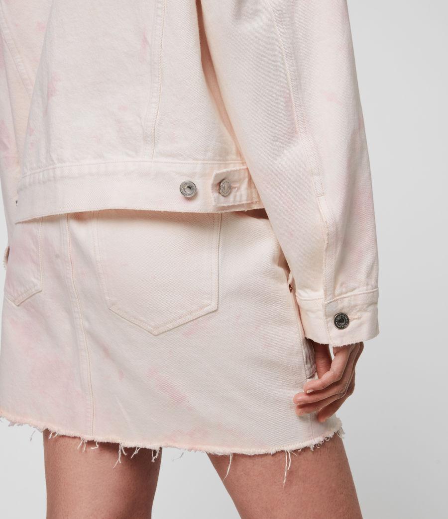 Women's Elma Dye Denim Jacket (chalk_white_pink) - Image 5