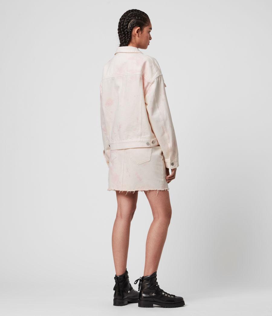 Women's Elma Dye Denim Jacket (chalk_white_pink) - Image 6