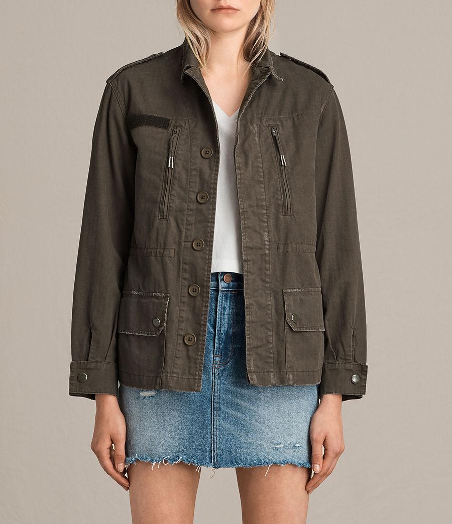 Womens Luke Military Jacket (khaki_green) - Image 1