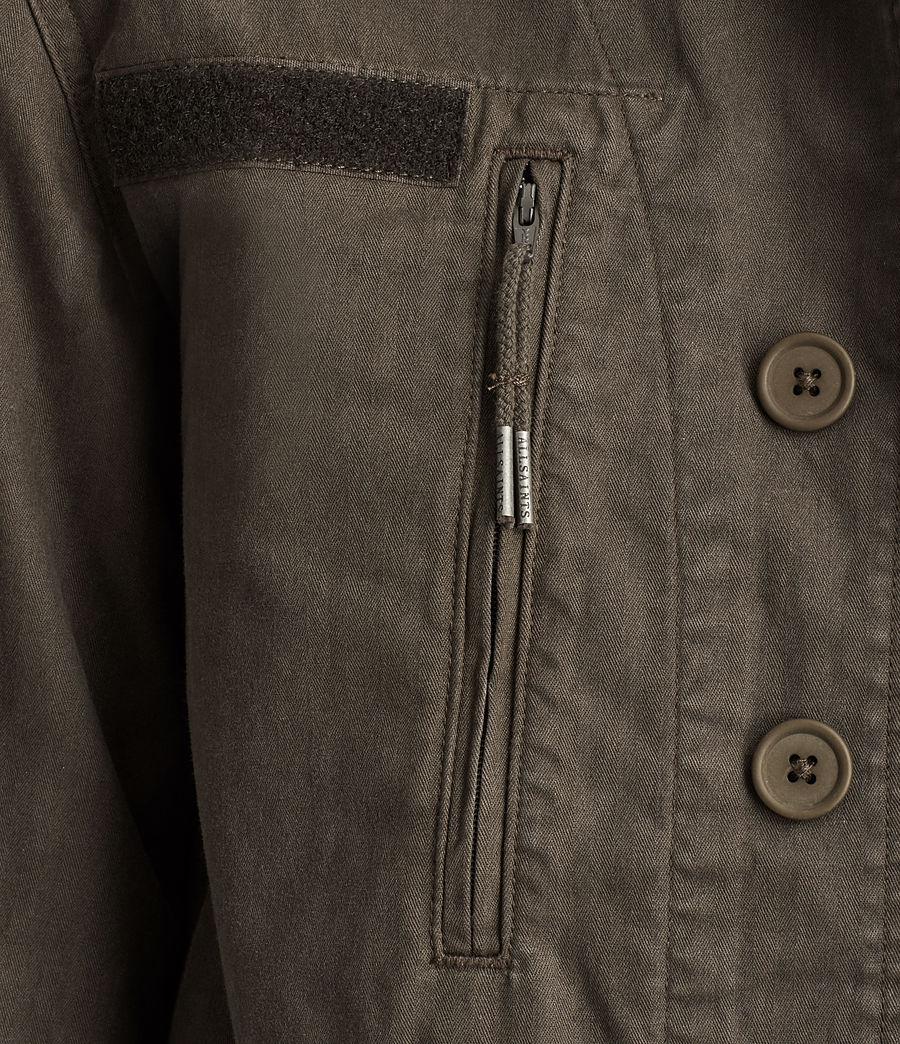 Womens Luke Military Jacket (khaki_green) - Image 2
