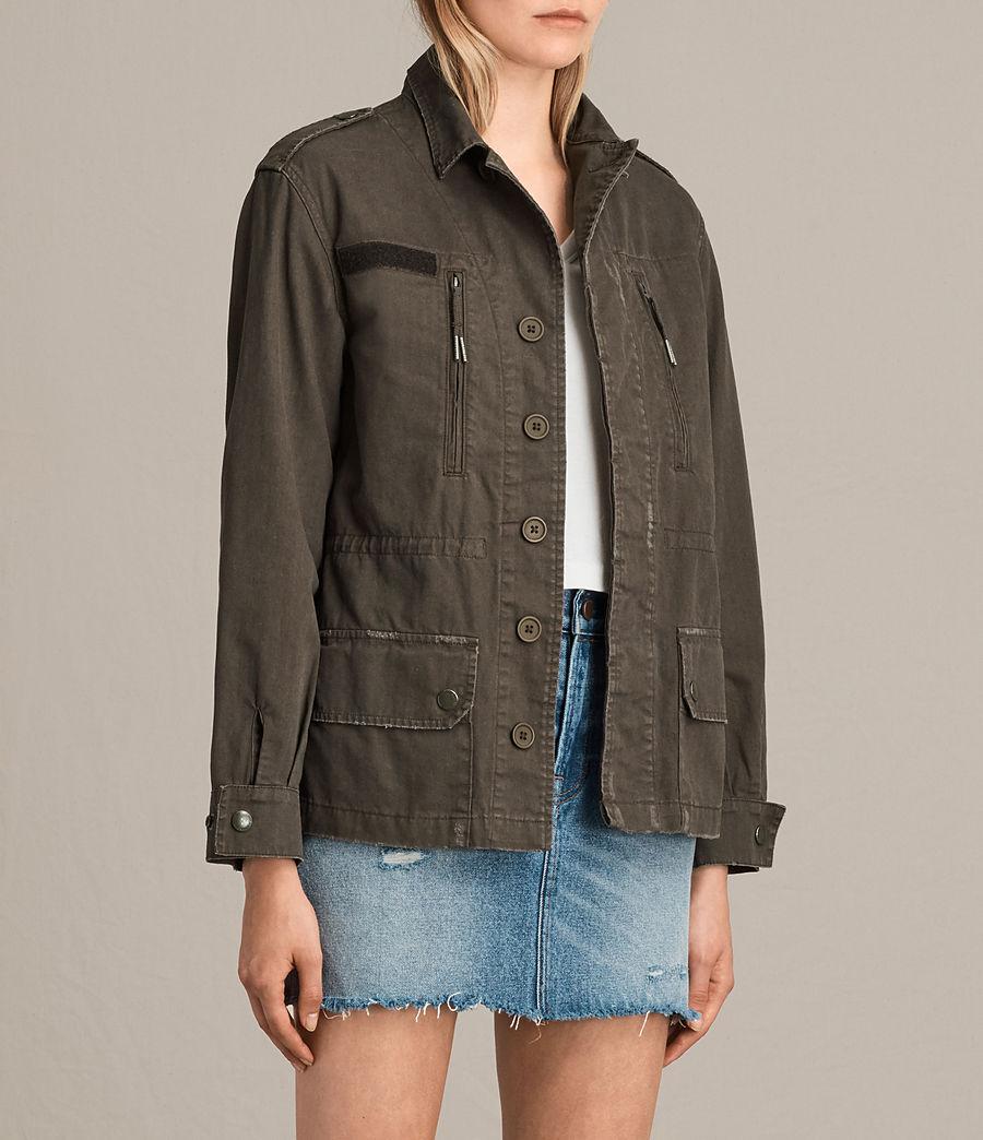 Womens Luke Military Jacket (khaki_green) - Image 3