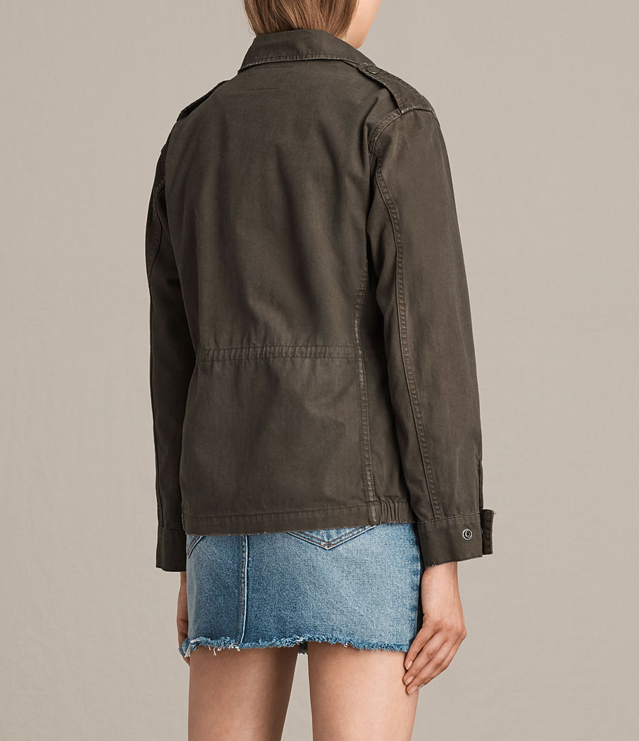 Womens Luke Military Jacket (khaki_green) - Image 4