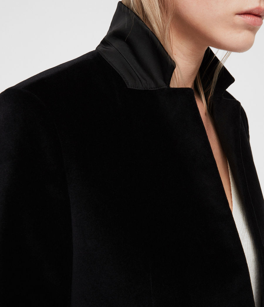 Mujer Abrigo Leni Velvet (black) - Image 2