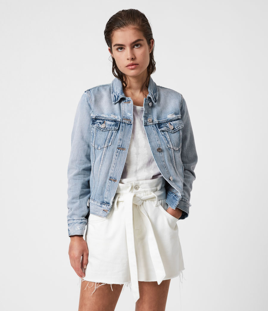 Womens Hay Denim Jacket (light_indigo) - Image 1