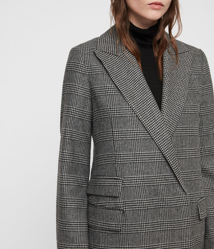 Women's Paityn Check Coat (pale_grey) - Image 4