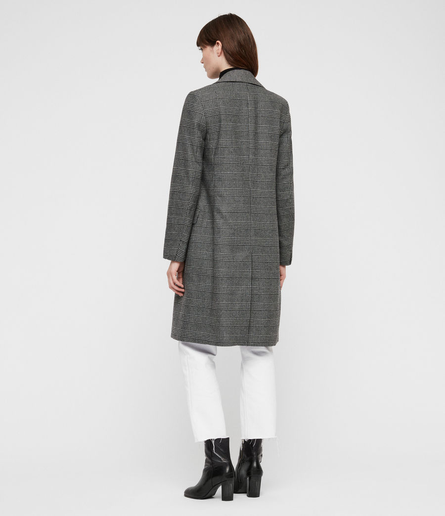 Women's Paityn Check Coat (pale_grey) - Image 5