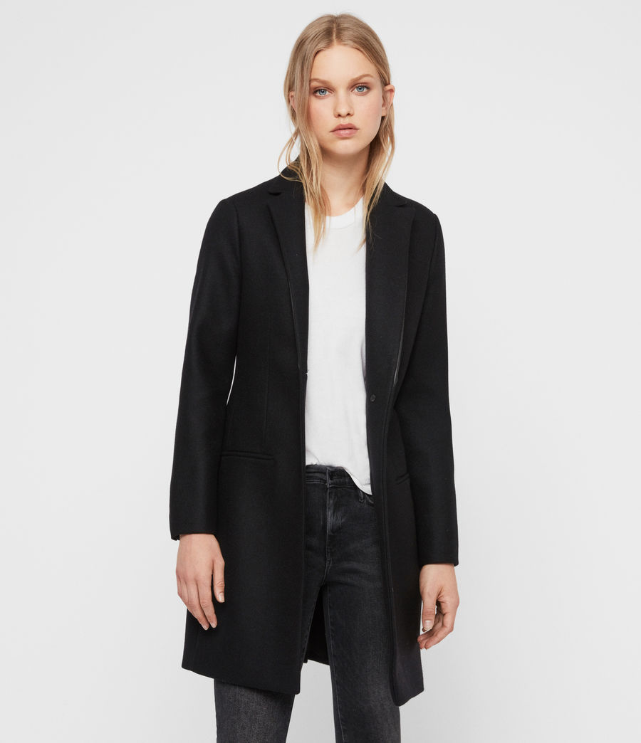 Womens Leni Lea Coat (black) - Image 1