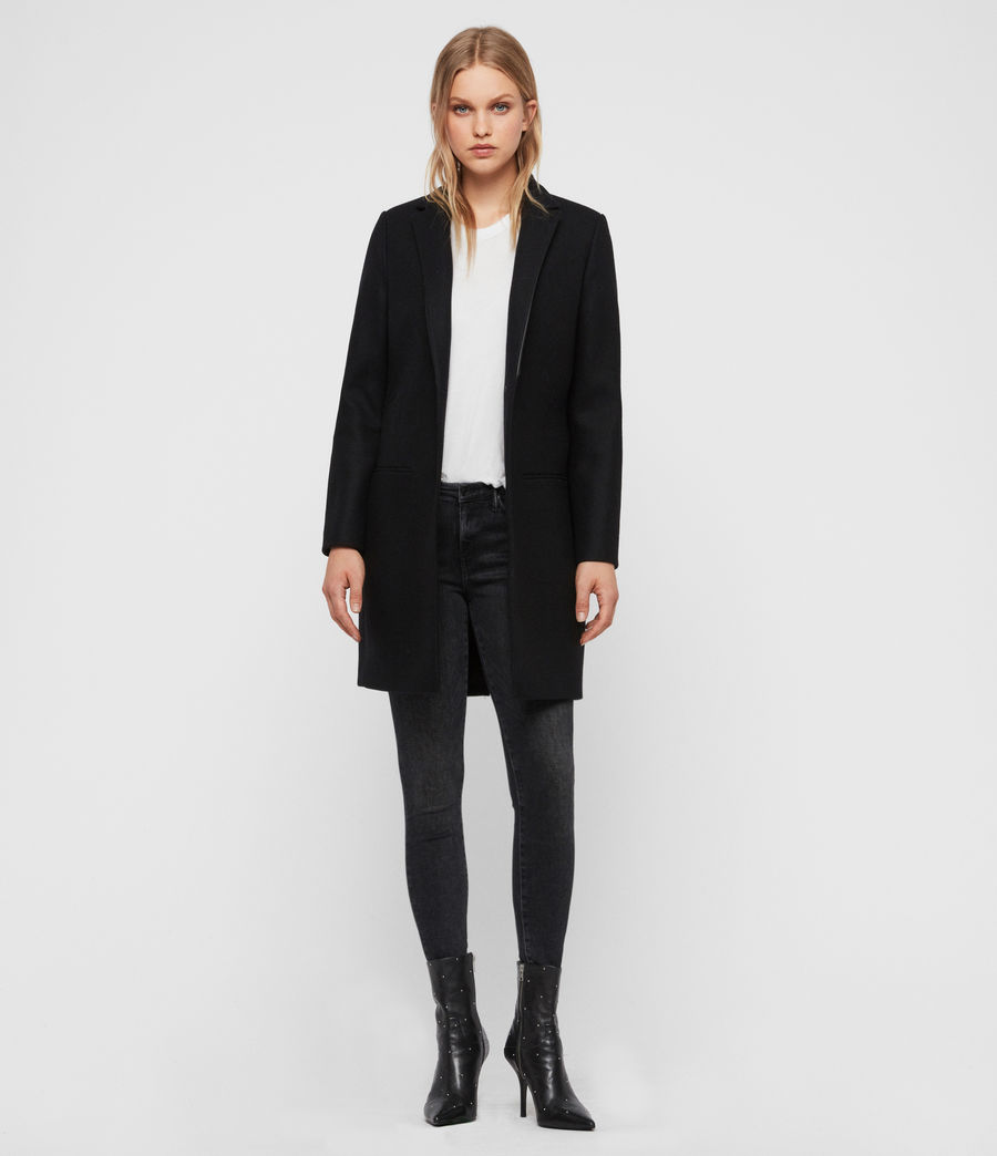 Womens Leni Lea Coat (black) - Image 3